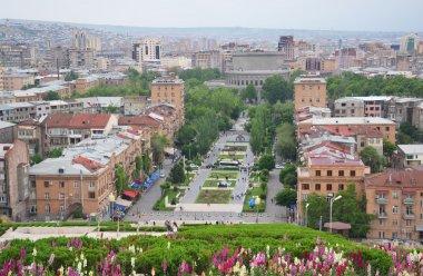 View of Yerevan city center from the top of Cascade Building, Yerevan, Armenia