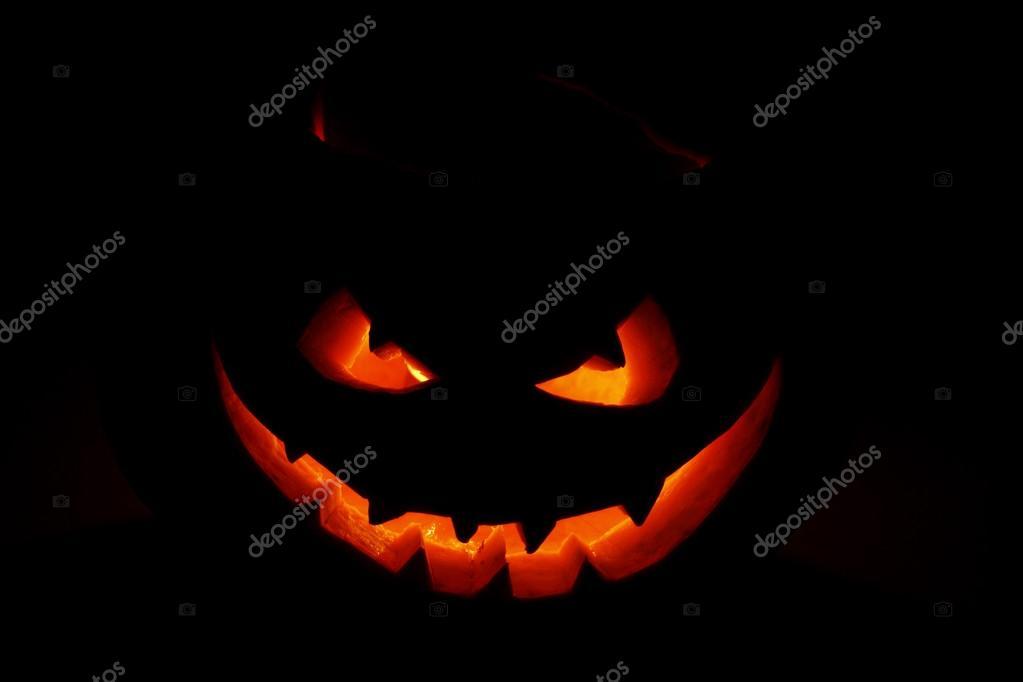 Imagenes Cara Calabaza Halloween Cara Tenebrosa De Calabaza De - Calabaza-hallowen