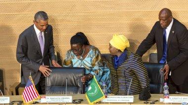 U.S. President Barack Obama makes his first presidential visit t