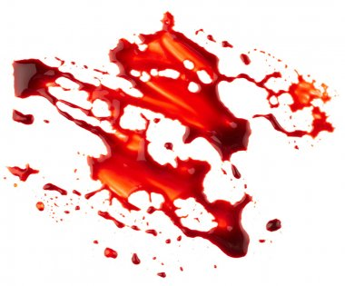 Bloodstain isolated on white