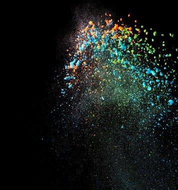 Splash of colorful powder