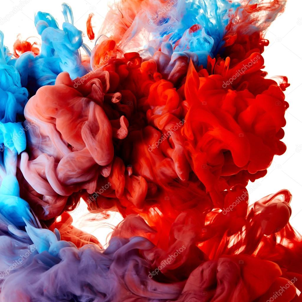 Abstract Red And Blue Smoke Stock Photo C Nik Merkulov