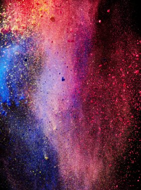 Splash of colored powder