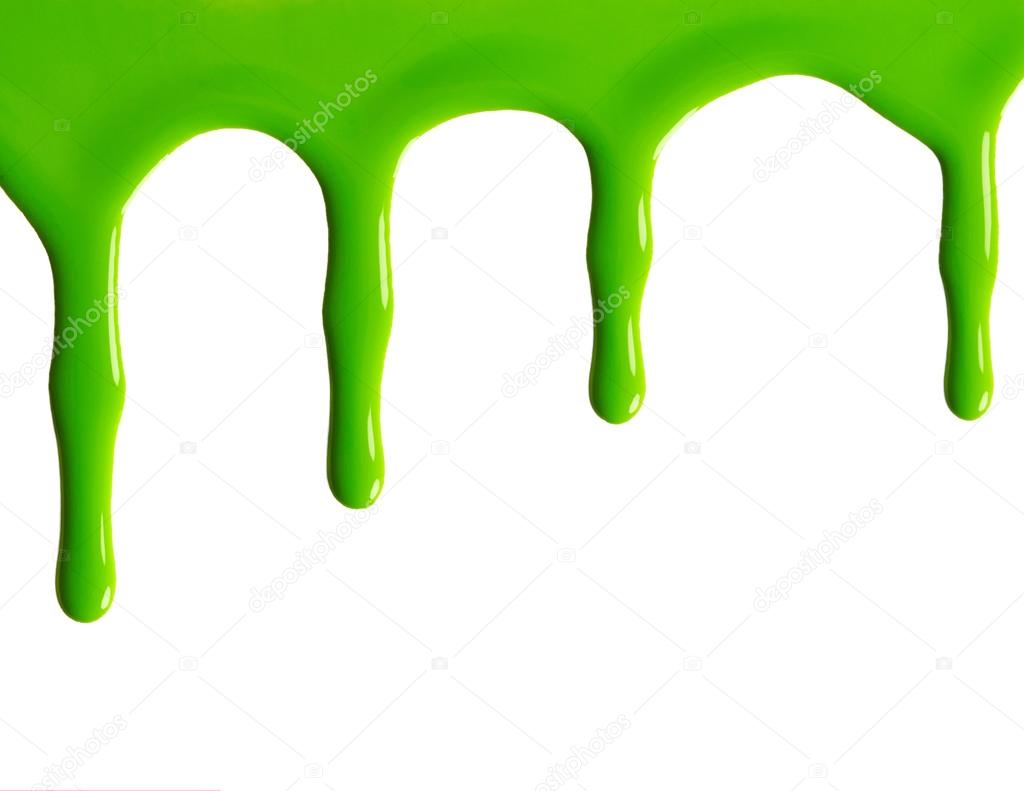 manchas de esmalte de uñas verde — Foto de stock © Nik_Merkulov ...