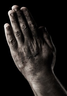 Male hands. Prayer
