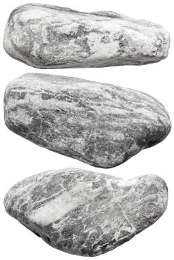 Grey rocks isolated on white background stock vector