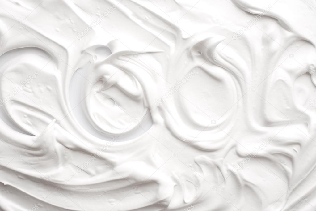 Texture of shaving foam