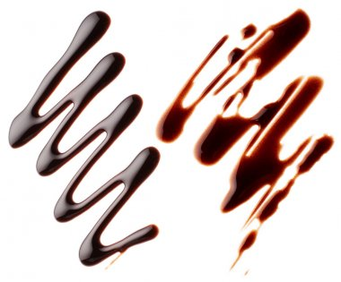 Liquid chocolate isolated on white background