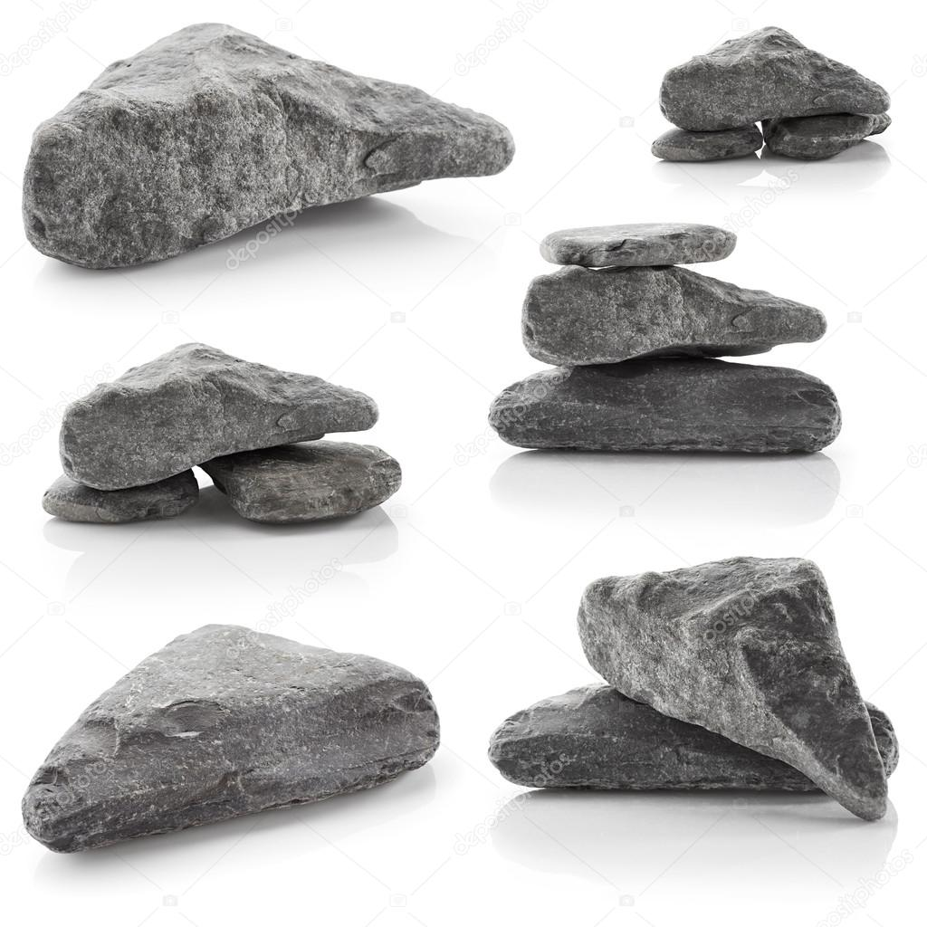 Set of grey rocks
