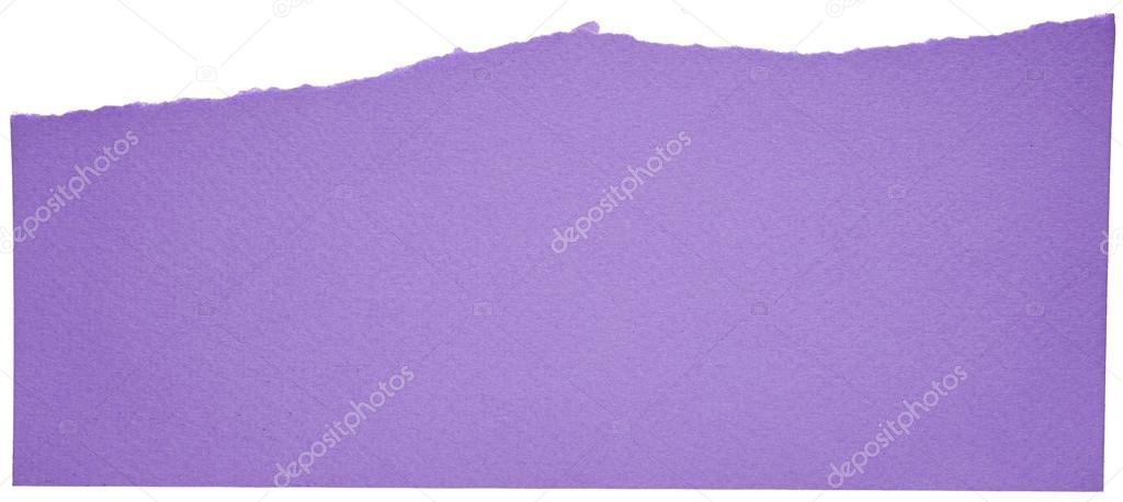 Cartulina color púrpura sobre fondo blanco — Foto de stock ...