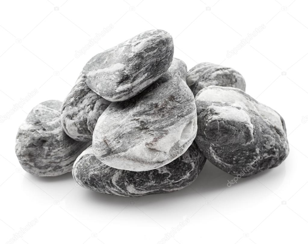 Rocks isolated on white background