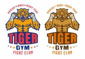 Photo  logo for fighting club with angry tiger
