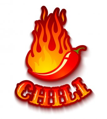 chili pepper in fire
