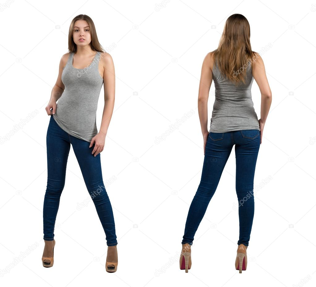 Full length portrait of attractive and hot girl in casual clothes full length portrait of attractive and hot girl in casual clothes isolated on white background voltagebd Images