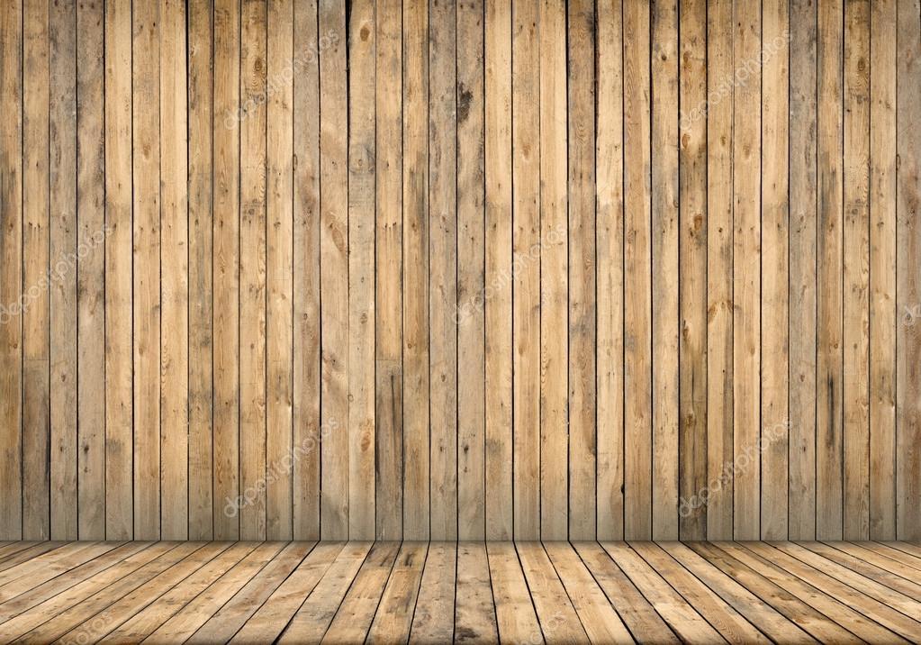 Interior del fondo. Piso y pared de madera — Foto de stock © gearstd ...