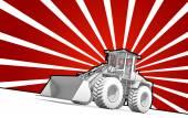 Fotografie Rote und Weiße Tinte bulldozer