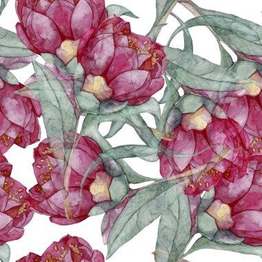 watercolor seamless vintage flower pattern