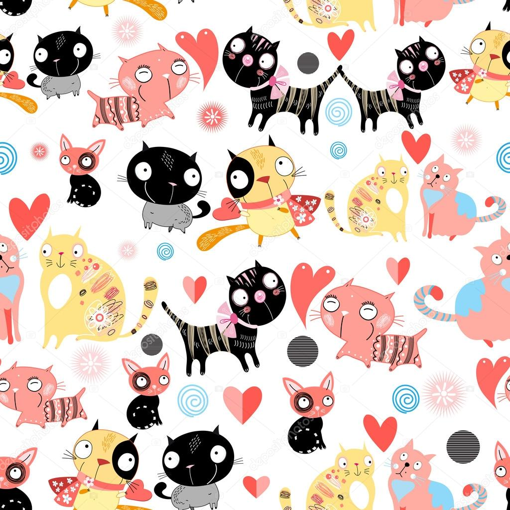 funny pattern lovers cats