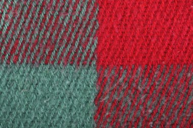 Red, green colorful plaid wool texture, background