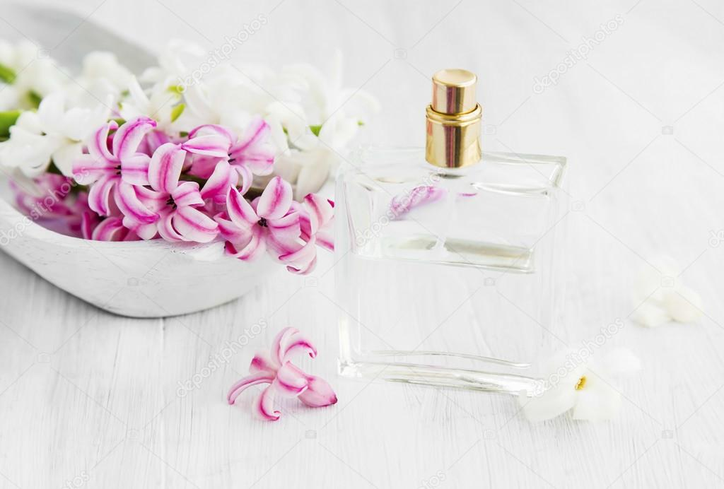 Hyacinth flowers with perfume bottle stock photo marrakeshh white and pink hyacinth flowers with perfume bottlespring flowers perfume photo by marrakeshh mightylinksfo Gallery