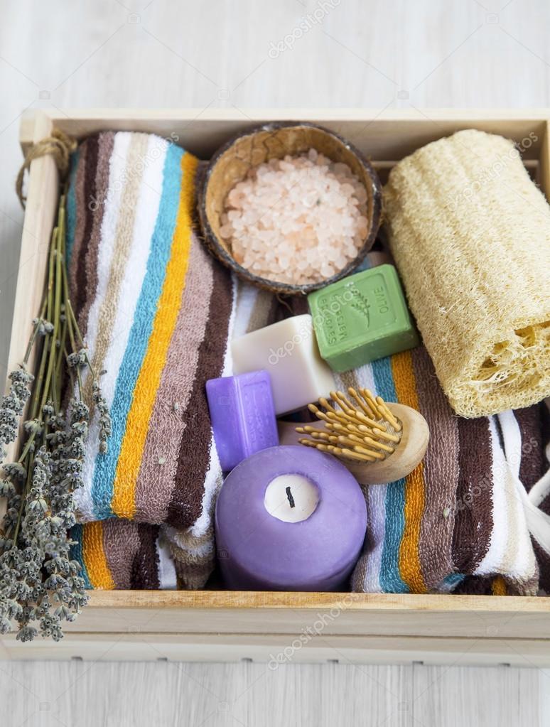 Productos de spa con lufa sal de ba o toallas y jabones - Articulos para spa ...