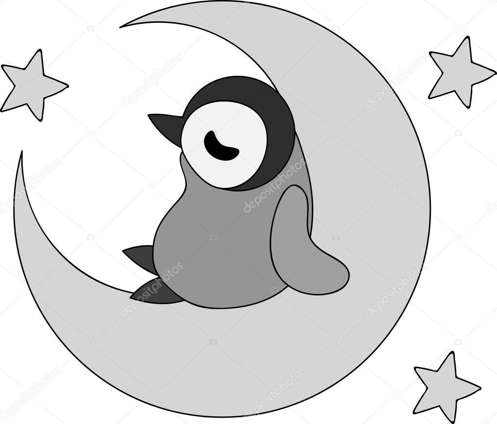 かわいいペンギンの赤ちゃんのイラスト ストックベクター Chiharu T