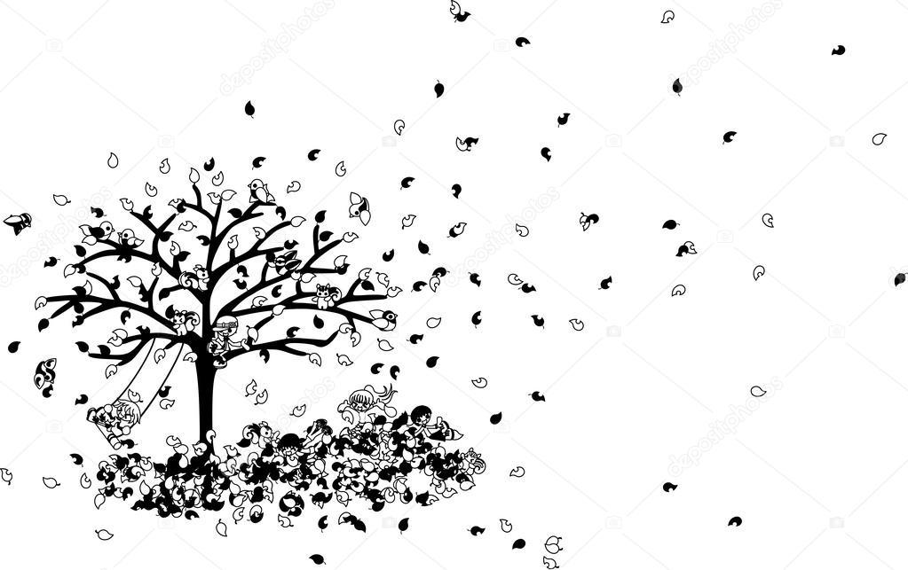 On the carpet of fallen leaves