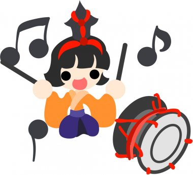 Girls Festival in Japan -Musician(large drum)-