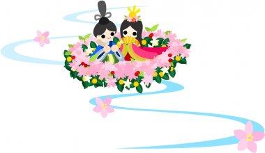 Girls Festival in Japan -(Floating doll)-