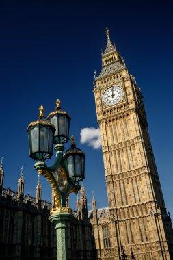 lantern in front of Big Ben