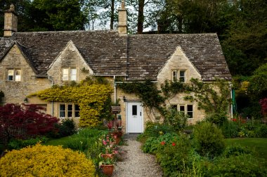 Terraced stone cottages