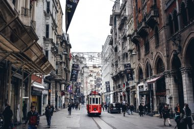 People walking on Istiklal Avenue