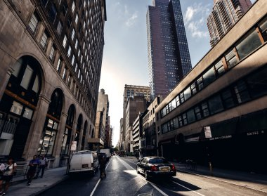 Below view on skyscrapers in New York