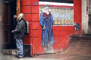 People on street in Dublin