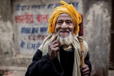 Senior Indian man in Varanasi, India