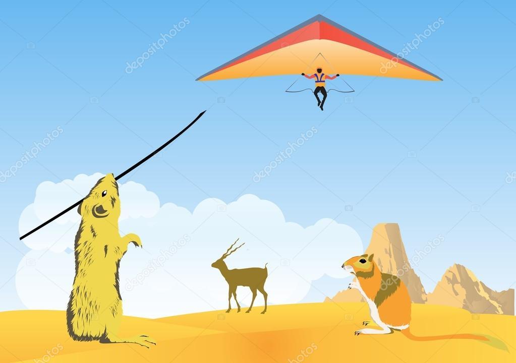 Rodentrs on desert sand