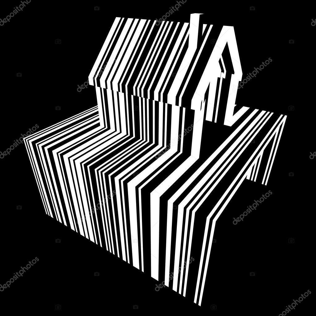 Barcode-Haus-Diagramm — Stockvektor © valigursky #106898940