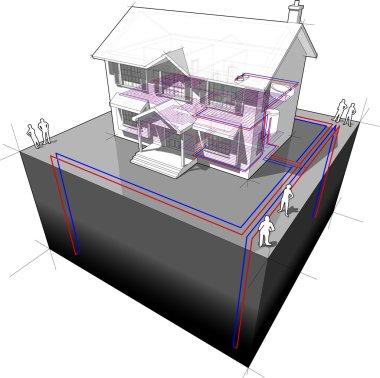 ground source heat pump diagram