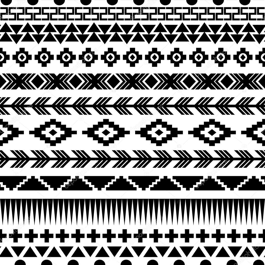 Seamless aztec pattern.