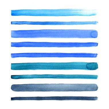 Watercolor stripes.