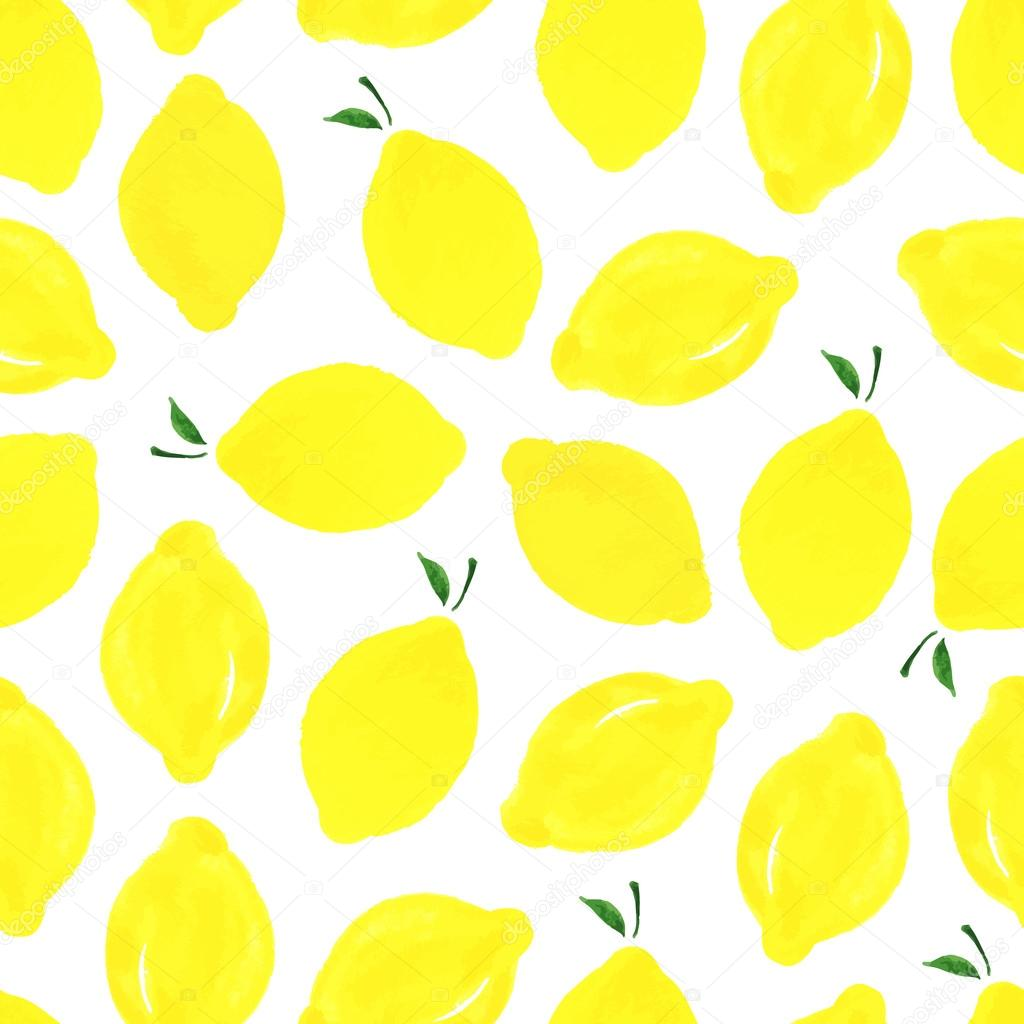 Pattern with lemons.