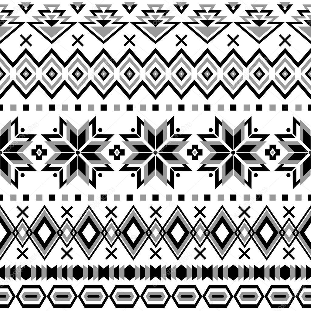 Ethnic striped seamless pattern.