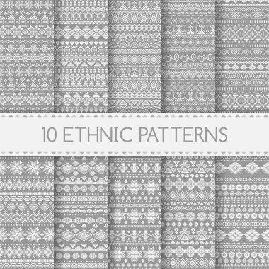 Ethnic seamless patterns.