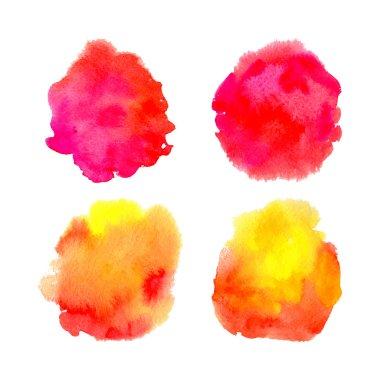 Watercolor splashes.