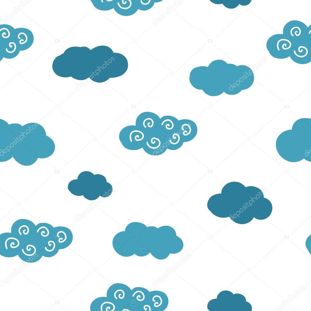 Nahtlose Muster. Wolken — Stockfoto © mariis #117777290
