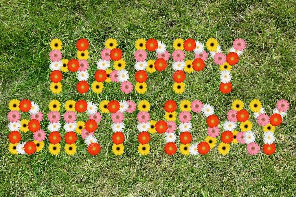 Alles Gute Zum Geburtstag Mit Blumen Blumenwiese Natur Stockfoto