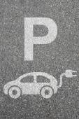 Parking lot sign electric car park charging station eco friendly