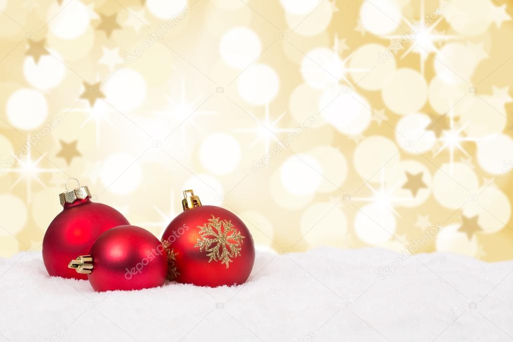 Bolas de navidad rojas fondo tarjeta de decoraci n - Bolas de navidad rojas ...
