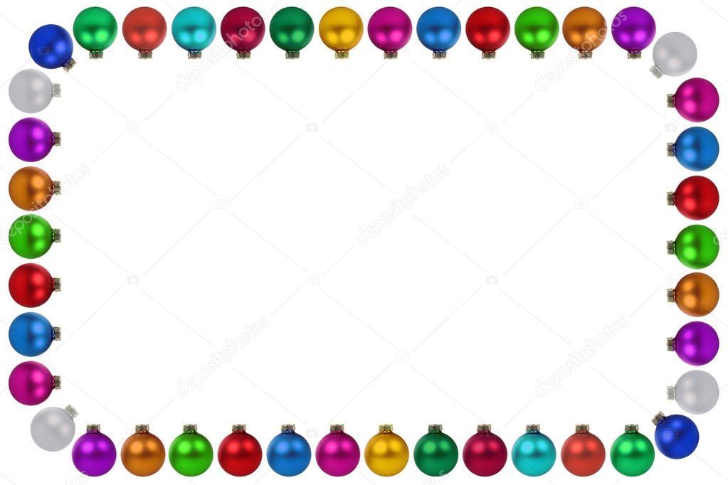 Bolas de Navidad adornos de muchos colores de decoración Marco ...