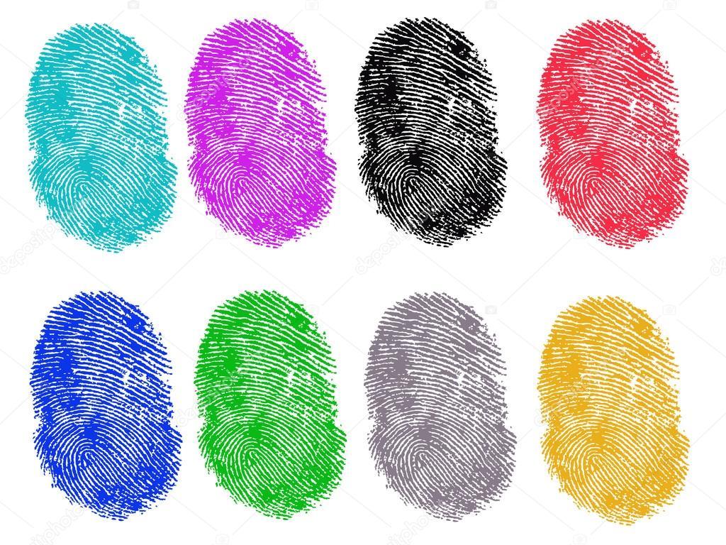 8 Colored Fingerprints